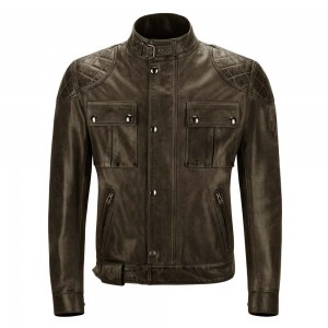 Belstaff Brooklands Leather Jacket - Black / Brown