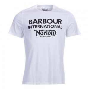 Barbour International Norton Logo T Shirt - White