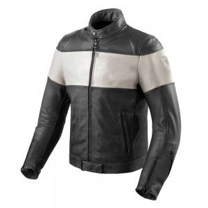 REV'IT Nova Vintage Leather Jacket - Black / White