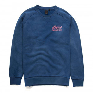 Deus Ex Machina Sunbleached Postmodern Crew - Estate Blue