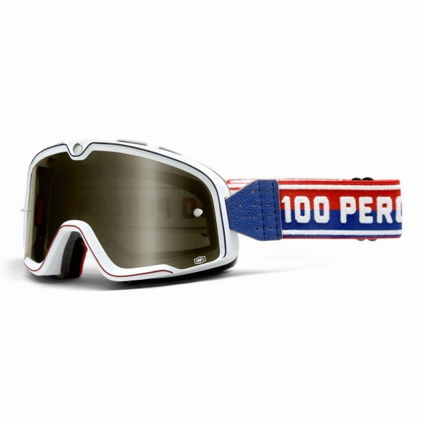 100% Barstow Classic Motorcycle Goggles - White