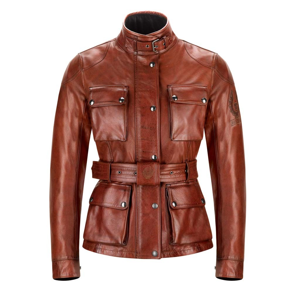 07949d6a4b6 Belstaff Trialmaster Classic Tourist Trophy Leather Ladies Jacket - Red
