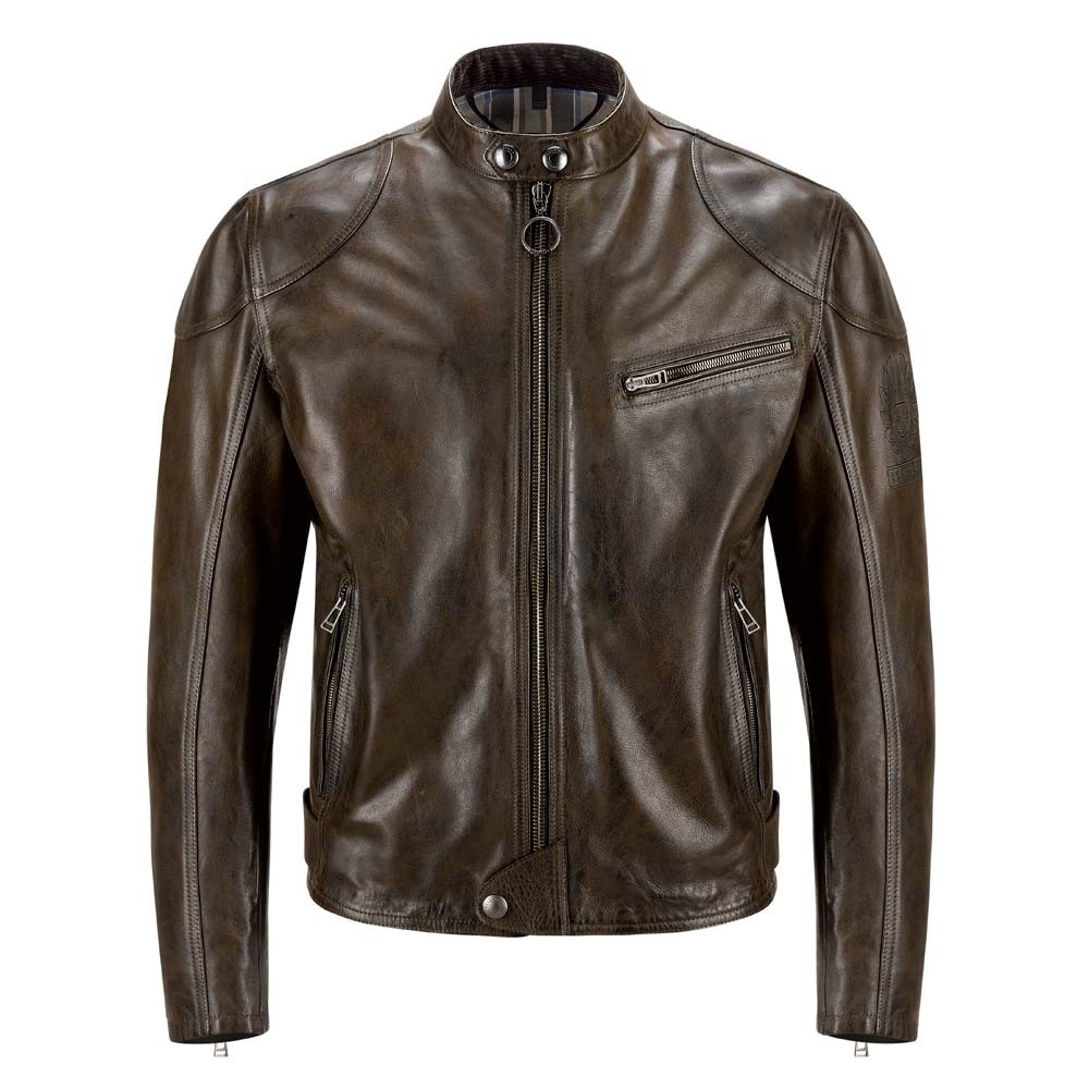 4e51429bcc4f ... Belstaff Supreme Leather Jacket - Black Brown . ...