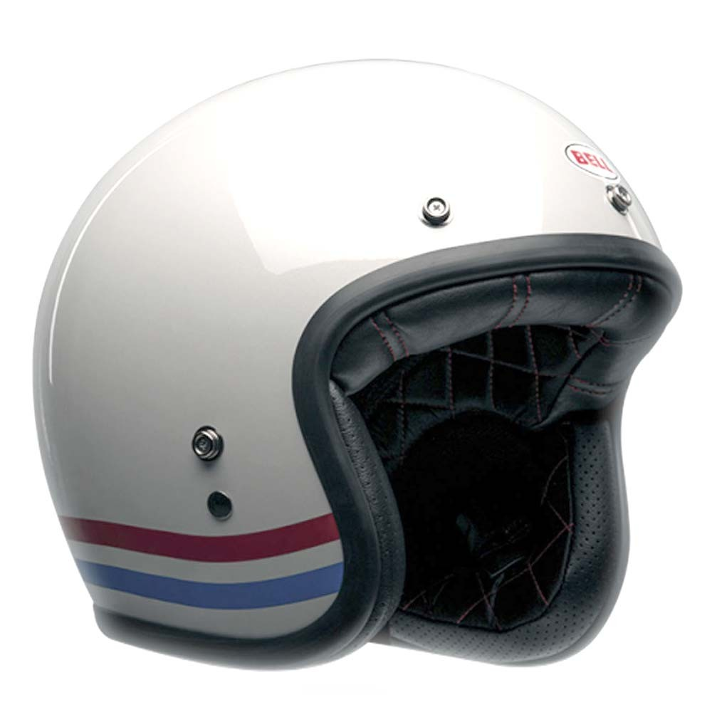 Bell Custom 500 Deluxe Helmet - Stripes Pearl White