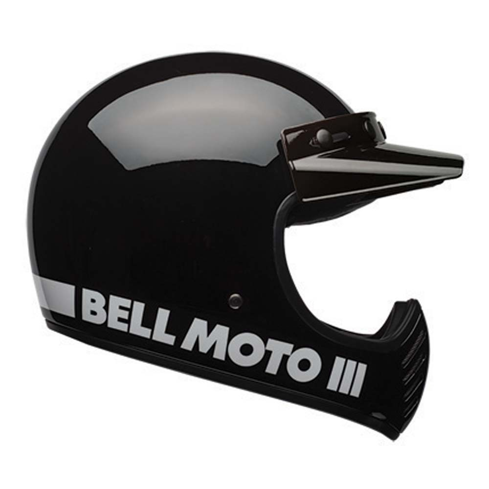 Bell Motorcycle Helmet >> Bell Moto 3 Helmet Classic Black The Cafe Racer