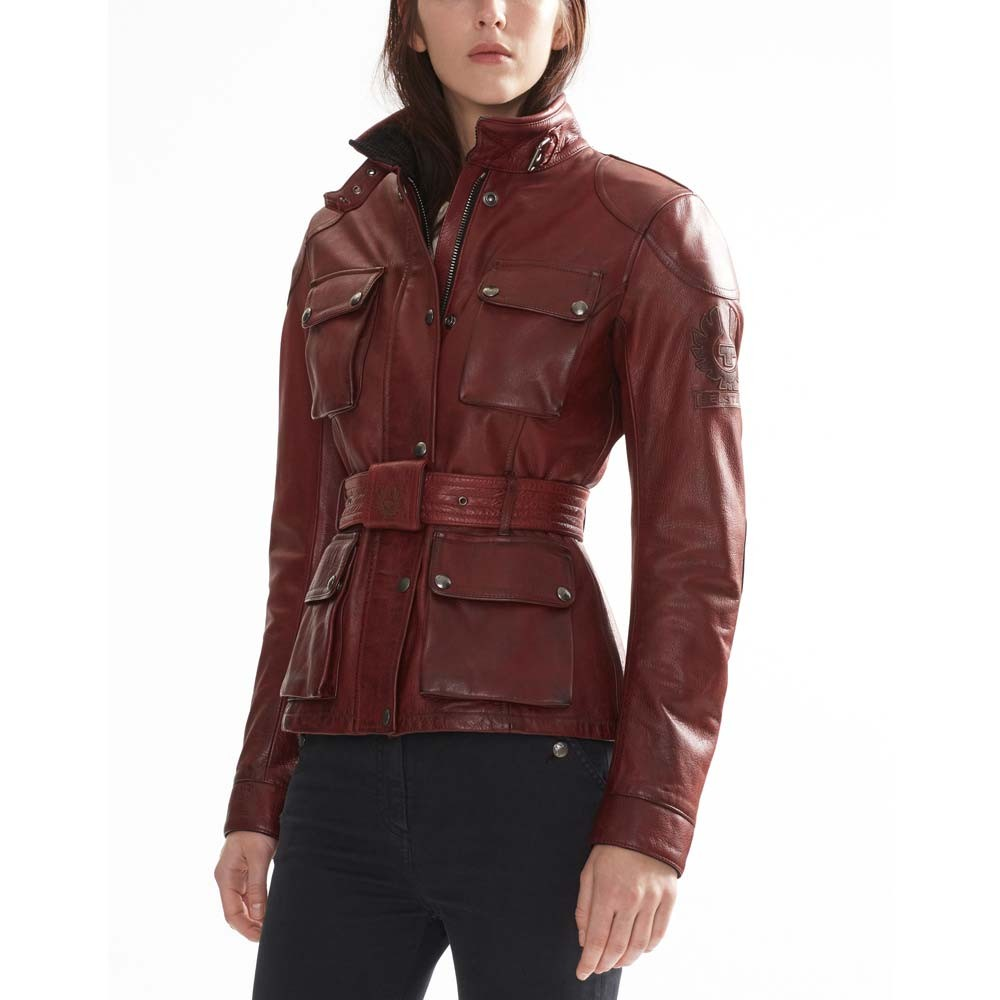f5e59ad467 Belstaff Trialmaster Pro Leather Ladies Jacket - Red
