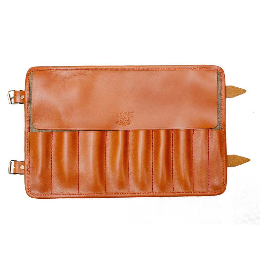 Crave Tool Roll - Cognac Leather / Waxed Cotton