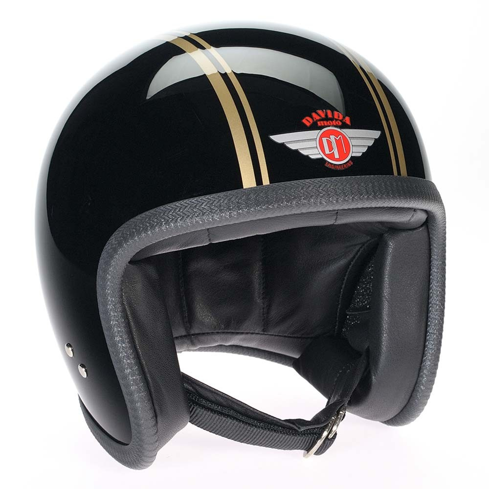 Davida 92 Helmet - Black / Gold PS
