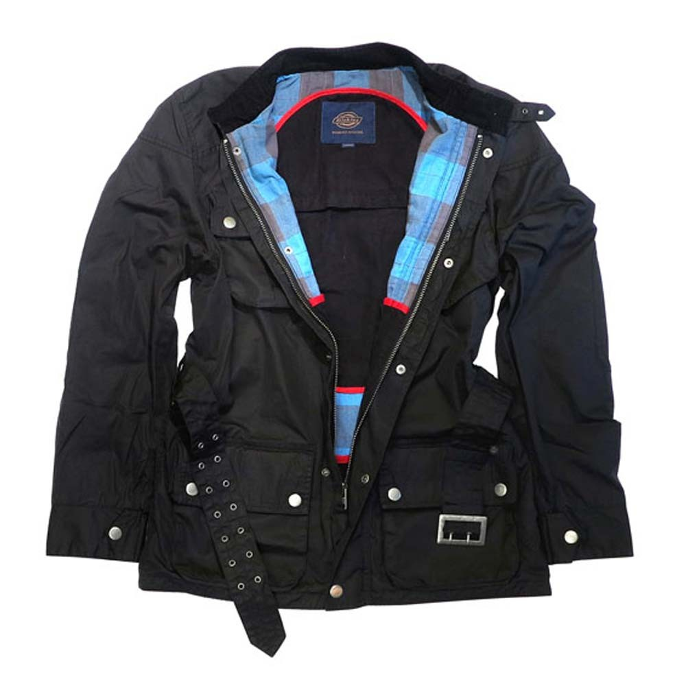 price reduced factory outlet marketable Dickies Motorcycle Outfitters Wax Jacket - Black