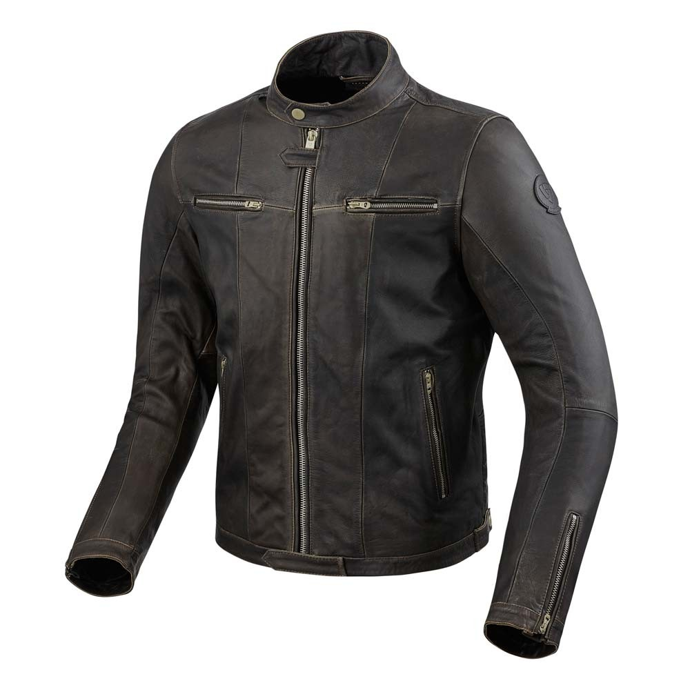 REV'IT Roswell Leather Jacket - Dark Brown