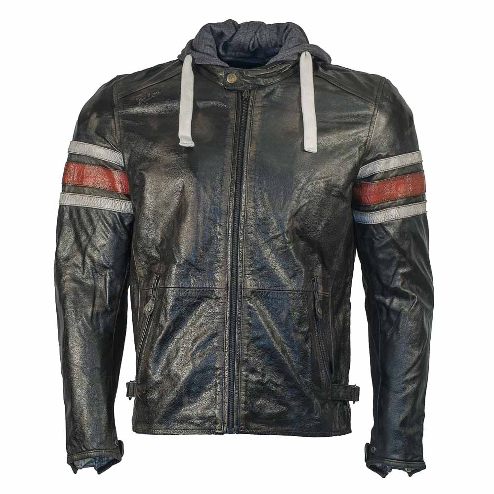 Richa Toulon Leather Jacket - Black / Red