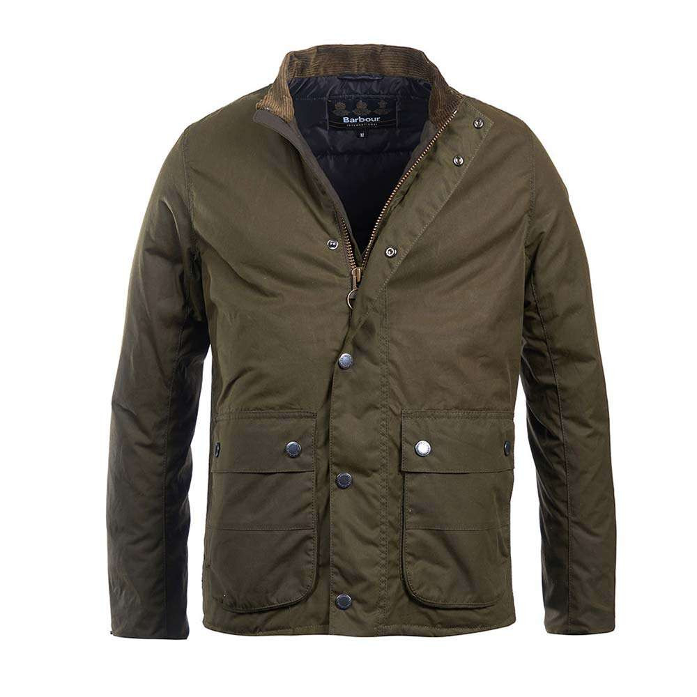Barbour International Armour Wax Jacket - Archive Olive