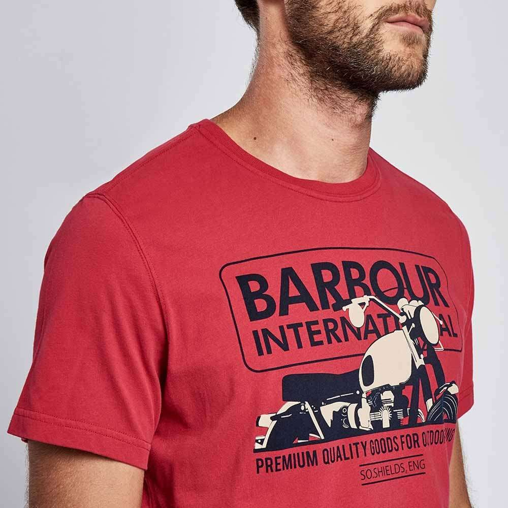 Barbour International Hydron T Shirt - Rich Red