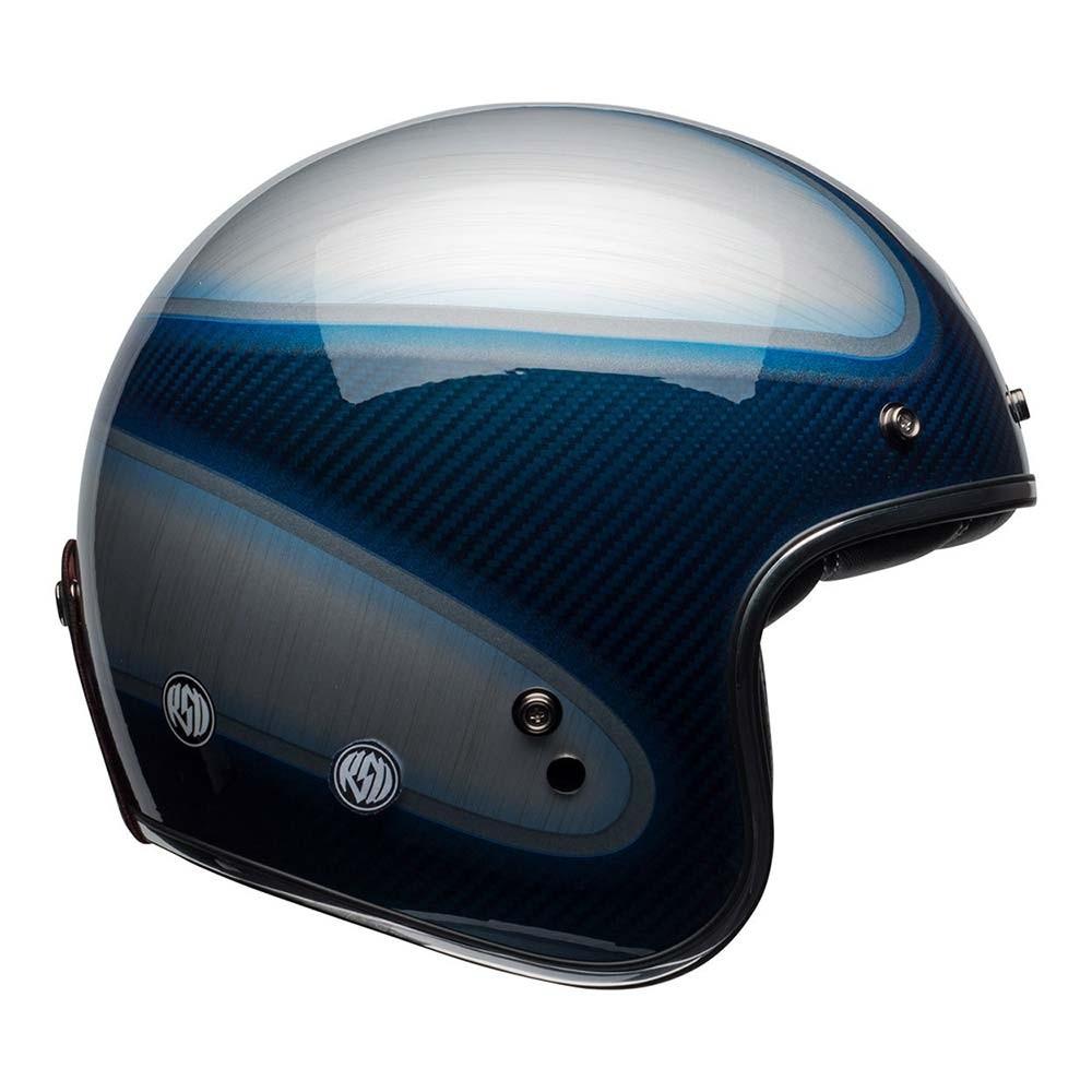 Bell Custom 500 Carbon Helmet - RSD Jager Candy Blue