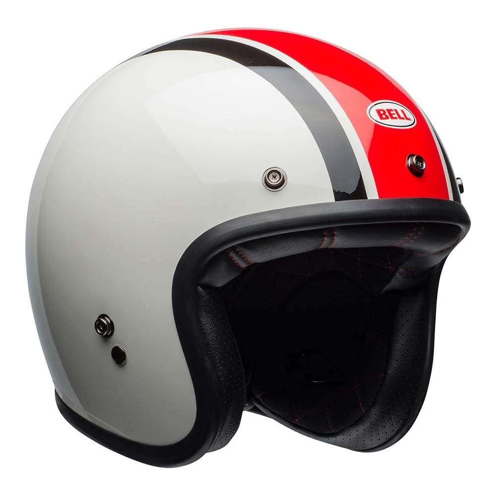Bell Custom 500 SE Deluxe Helmet - Ace Cafe Stadium White / Red / Black