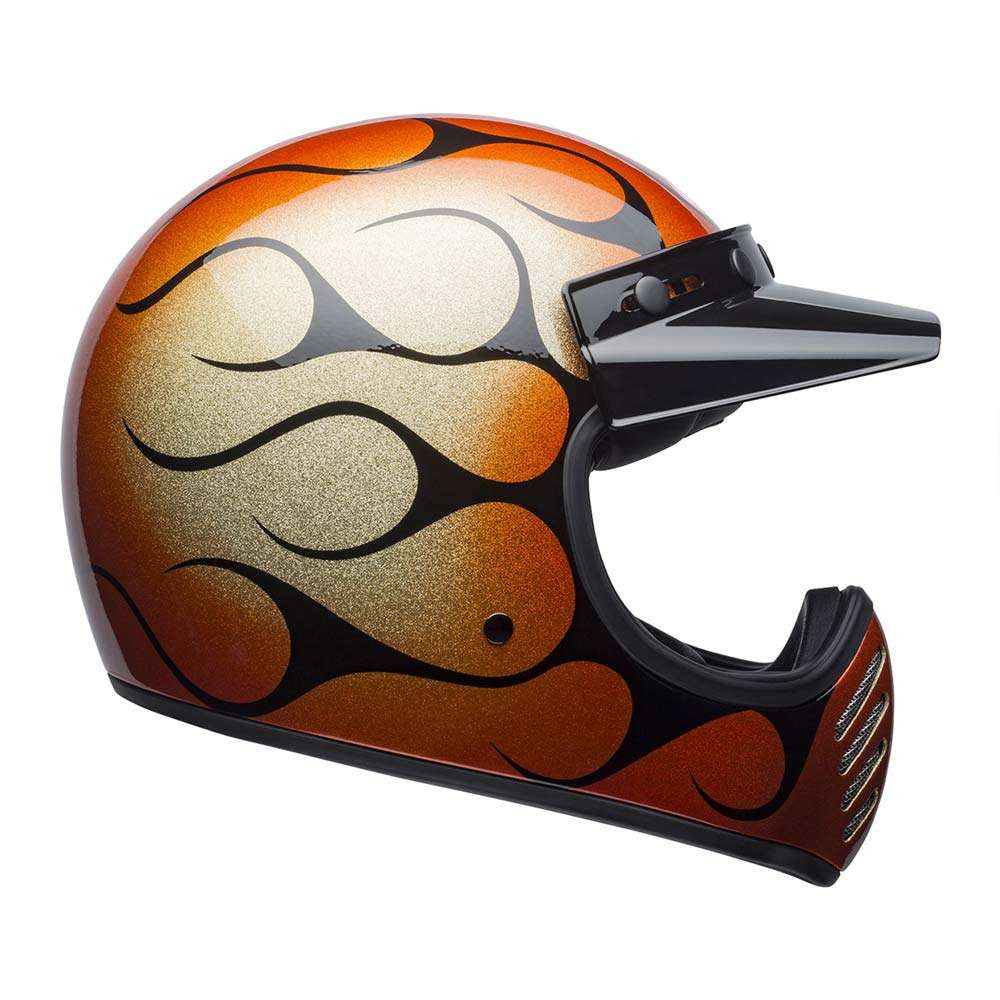 Bell Moto 3 Helmet - Chemical Candy Flames Gloss Orange / Black