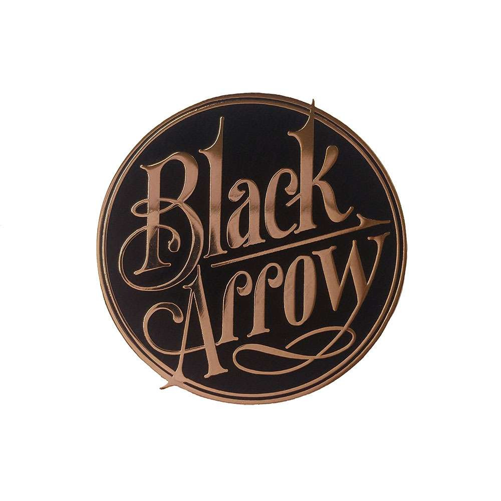 Black Arrow Logo Enamel Pin - Black
