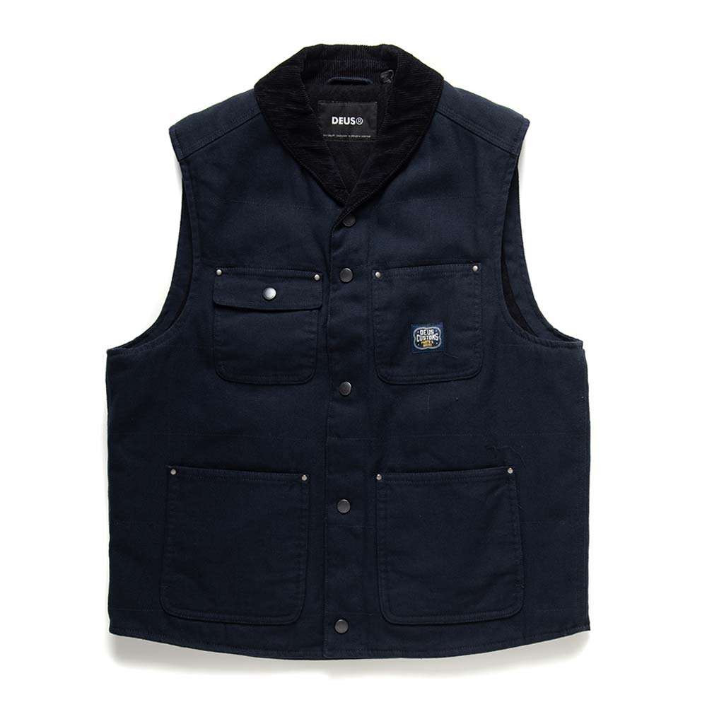 Deus Ex Machina Earl Canvas Vest - Black