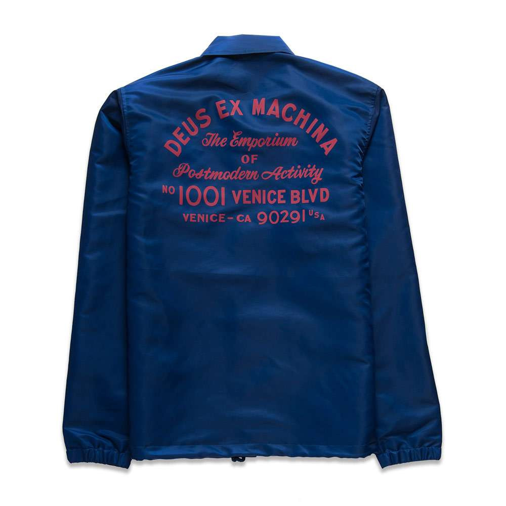 Deus Ex Machina Sunny Postmodern Coach Jacket - Estate Blue