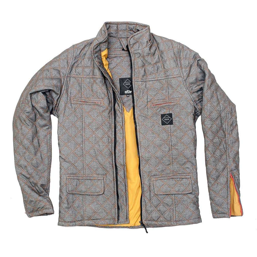 Crave Duke Quilted Kevlar Riding Shirt - Grey