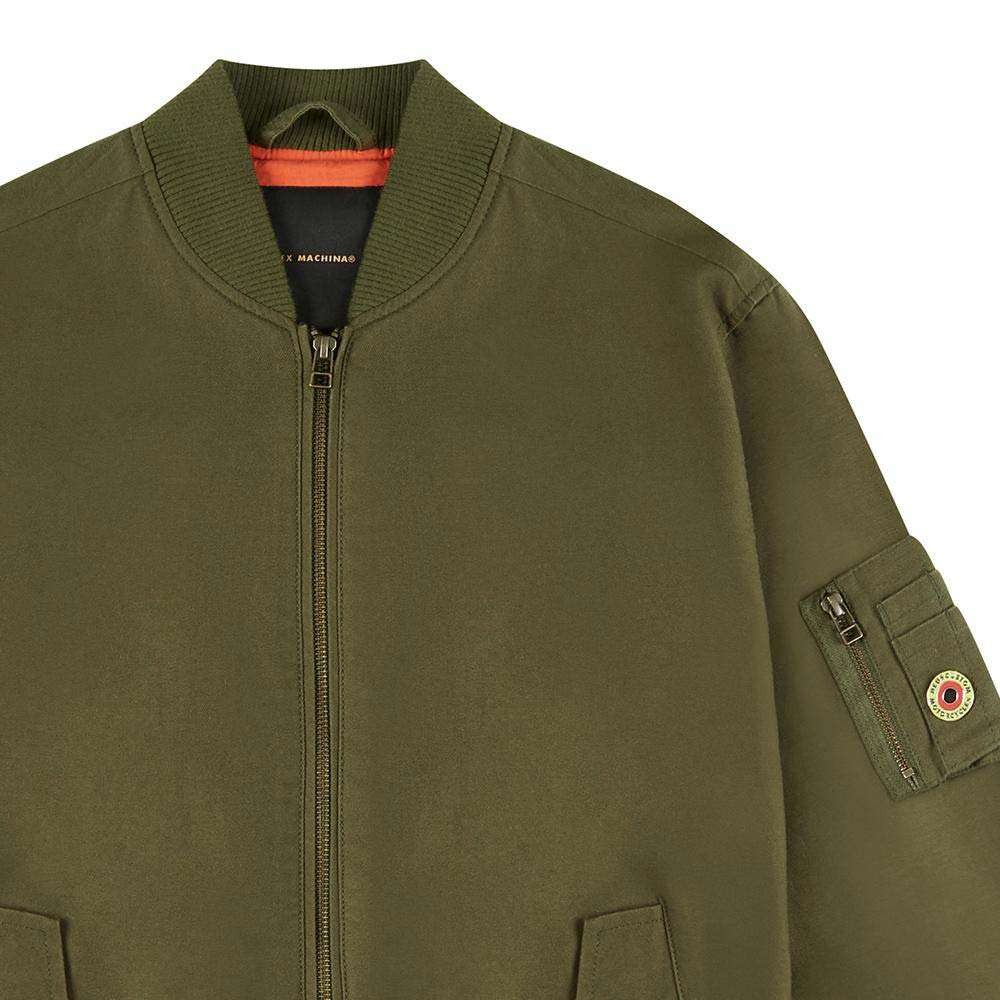 Deus Ex Machina Elias Bomber Jacket - Pine / Orange