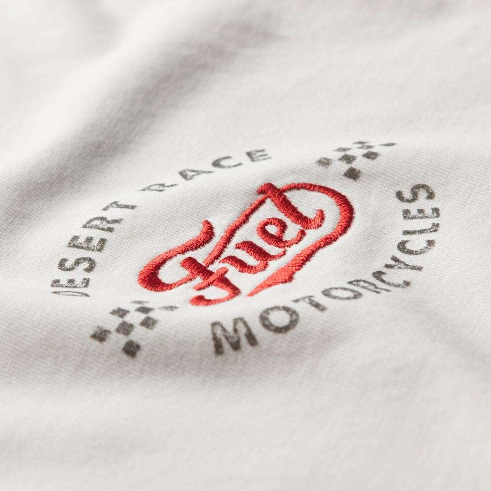 Fuel Motorcycles Checkers T Shirt - Off White