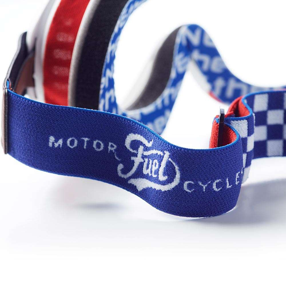 Fuel Motorcycles x Ethen Coyote Goggles - White / Red / Blue
