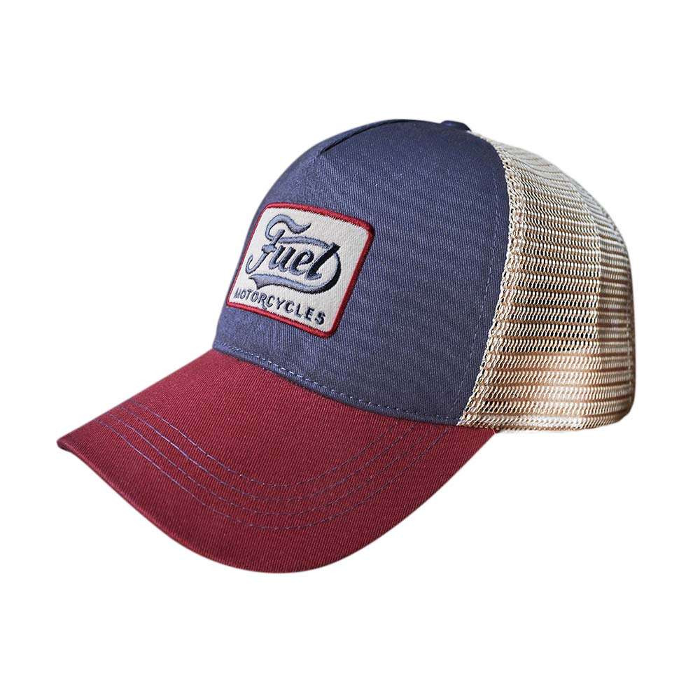 Fuel Motorcycles Mechanic Cap - Navy / Burgundy