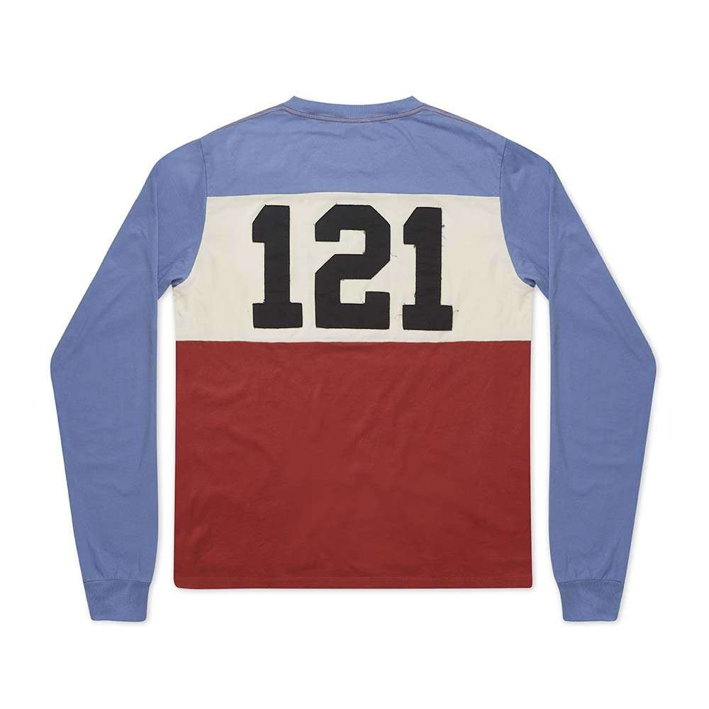 Fuel Motorcycles 121 Longsleeve T Shirt - Blue / White / Red