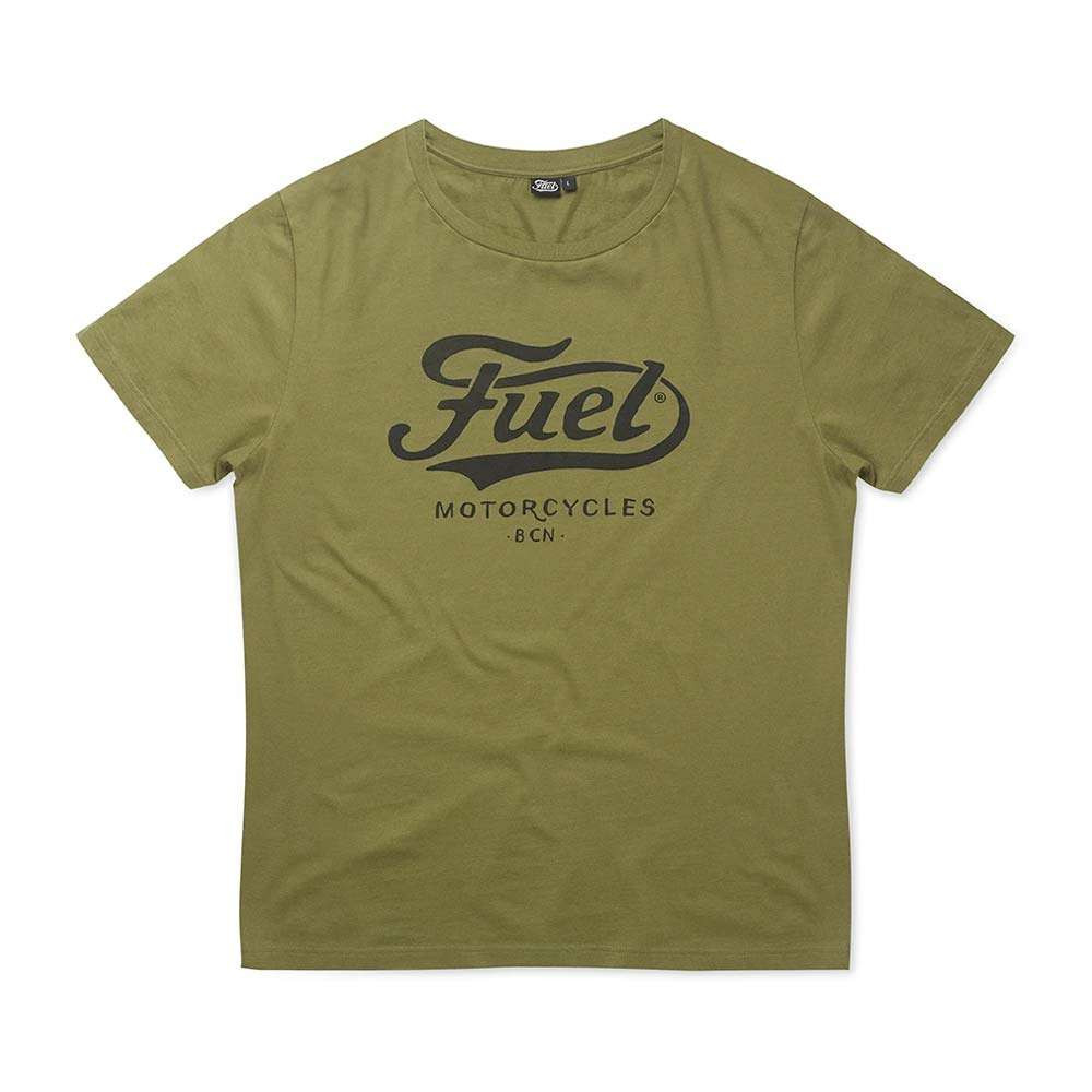 Fuel Motorcycles Army T Shirt - Green
