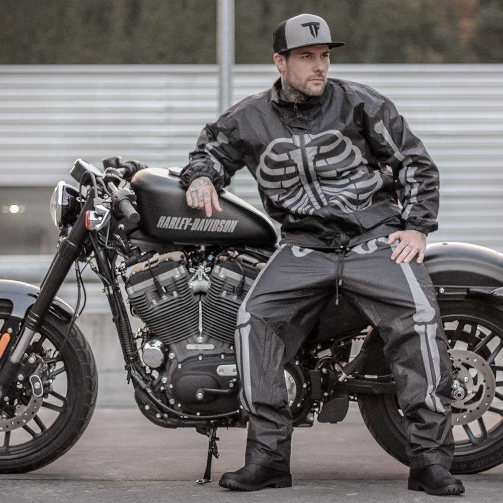 Fuel Motorcycles Day of the Dead Rain Suit