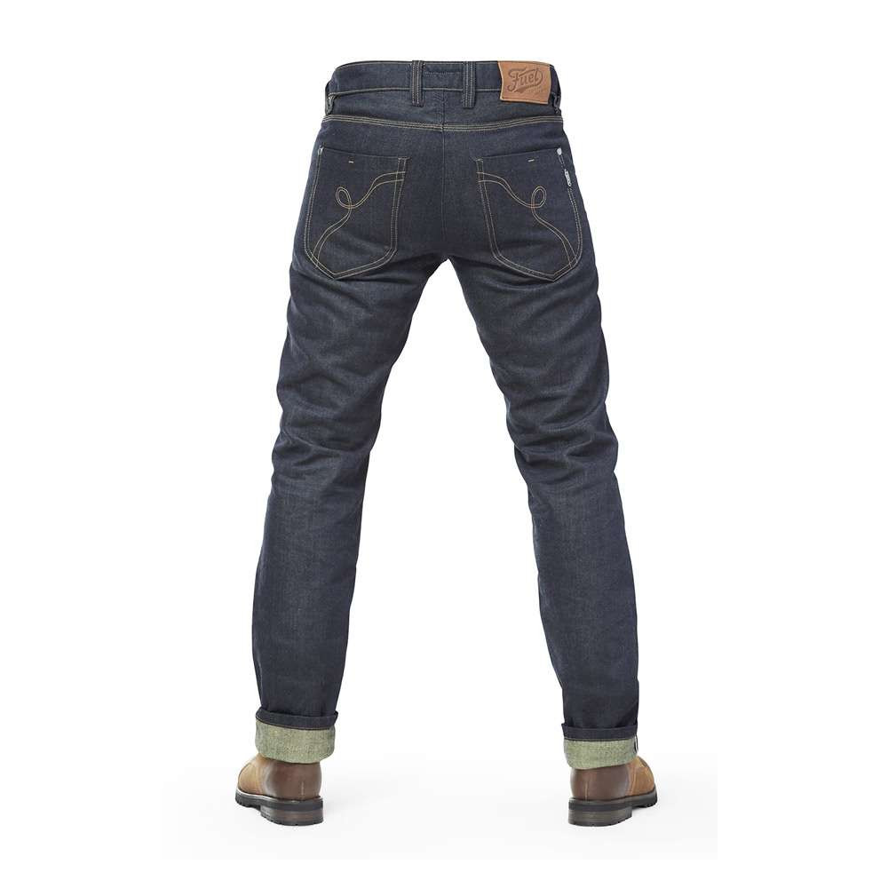 Fuel Motorcycles Greasy Collection Aramid Selvedge Jeans - Blue