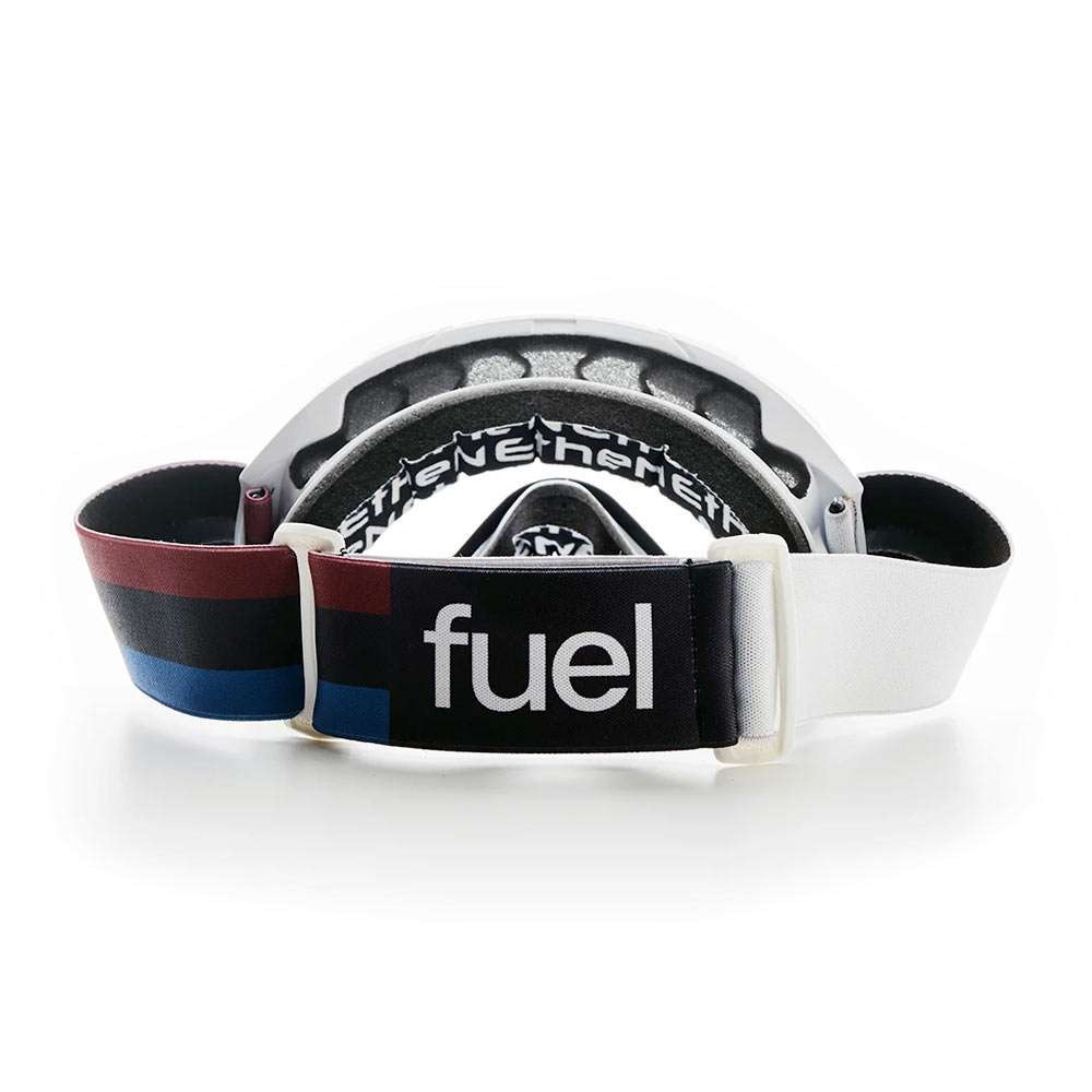 Fuel Motorcycles x Ethen Rally Raid Goggles - White / Red / Blue