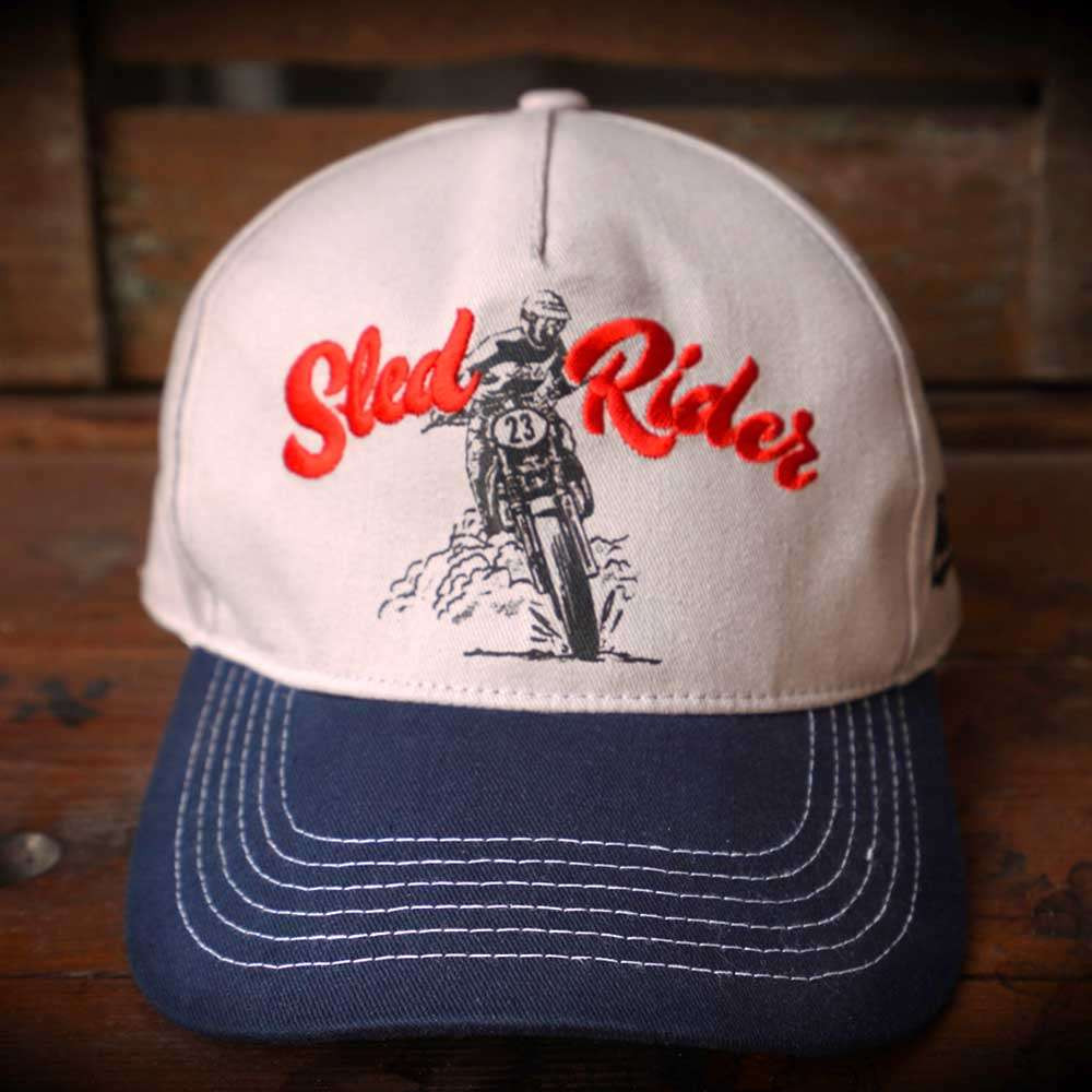 Fuel Motorcycles Sled Cap - White / Navy