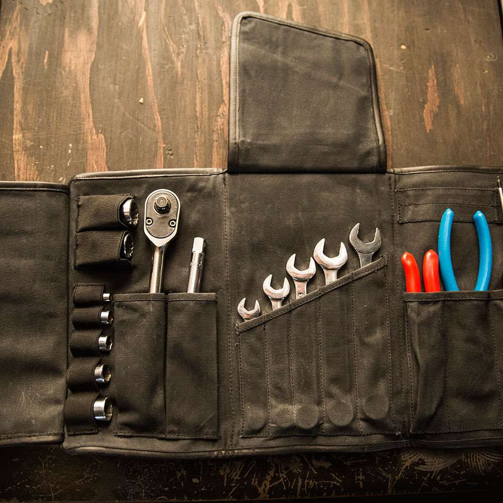 Roland Sands GTFO Tool Roll - Black