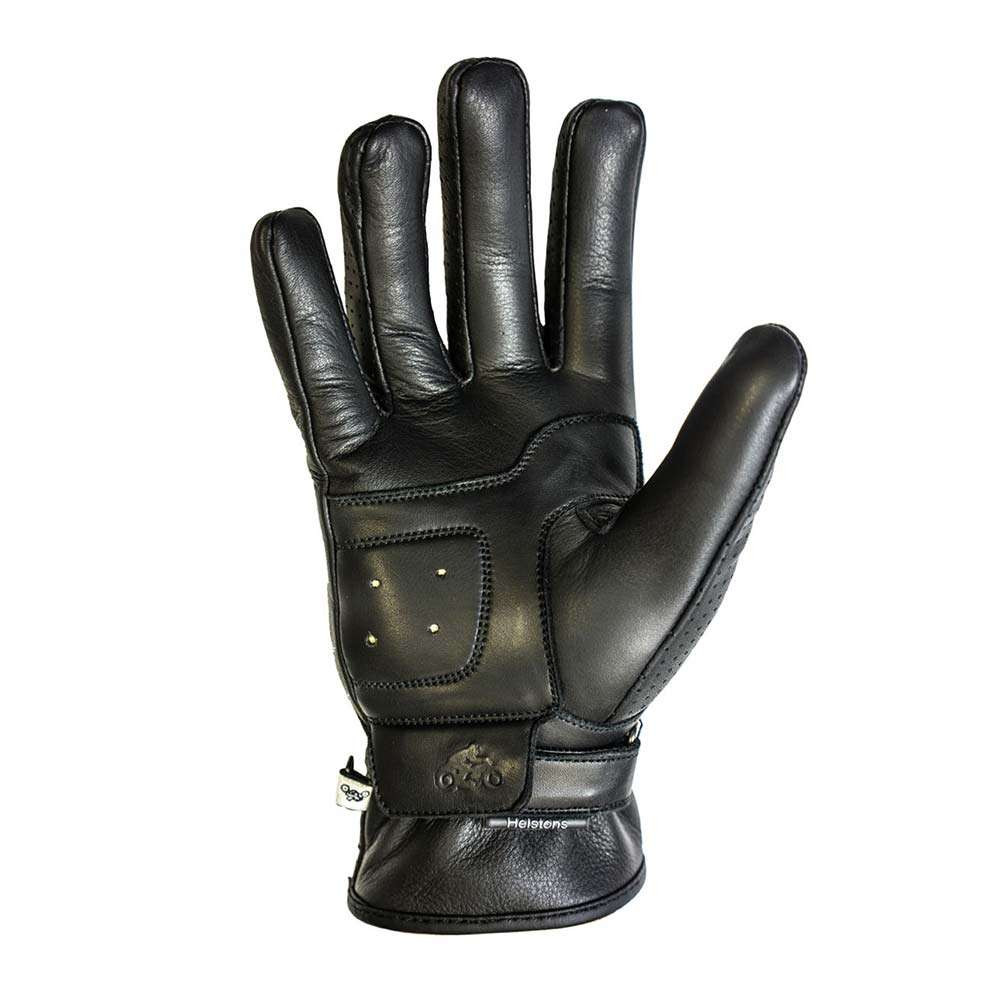 Helstons Basic Perforated Gloves - Black