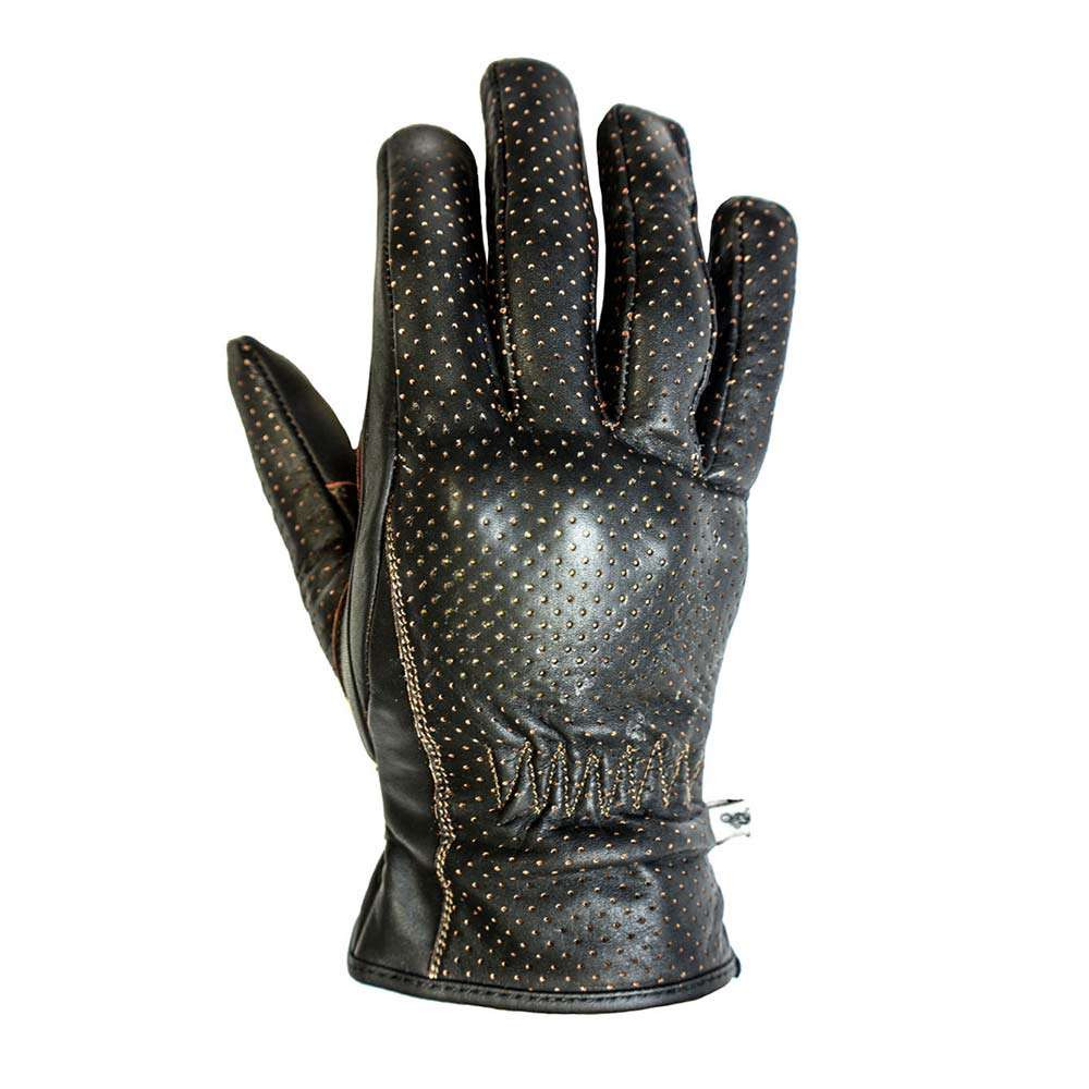 Helstons Basic Perforated Gloves - Brown