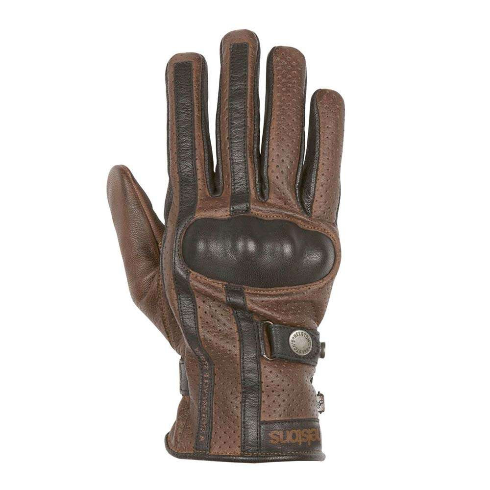 Helstons Eagle Perforated Gloves - Camel / Black