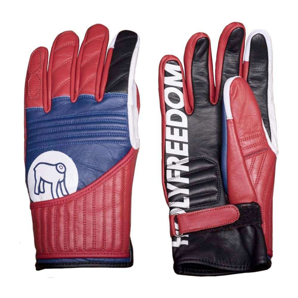 Holy Freedom Flat Track Gloves - Black / Red / Blue