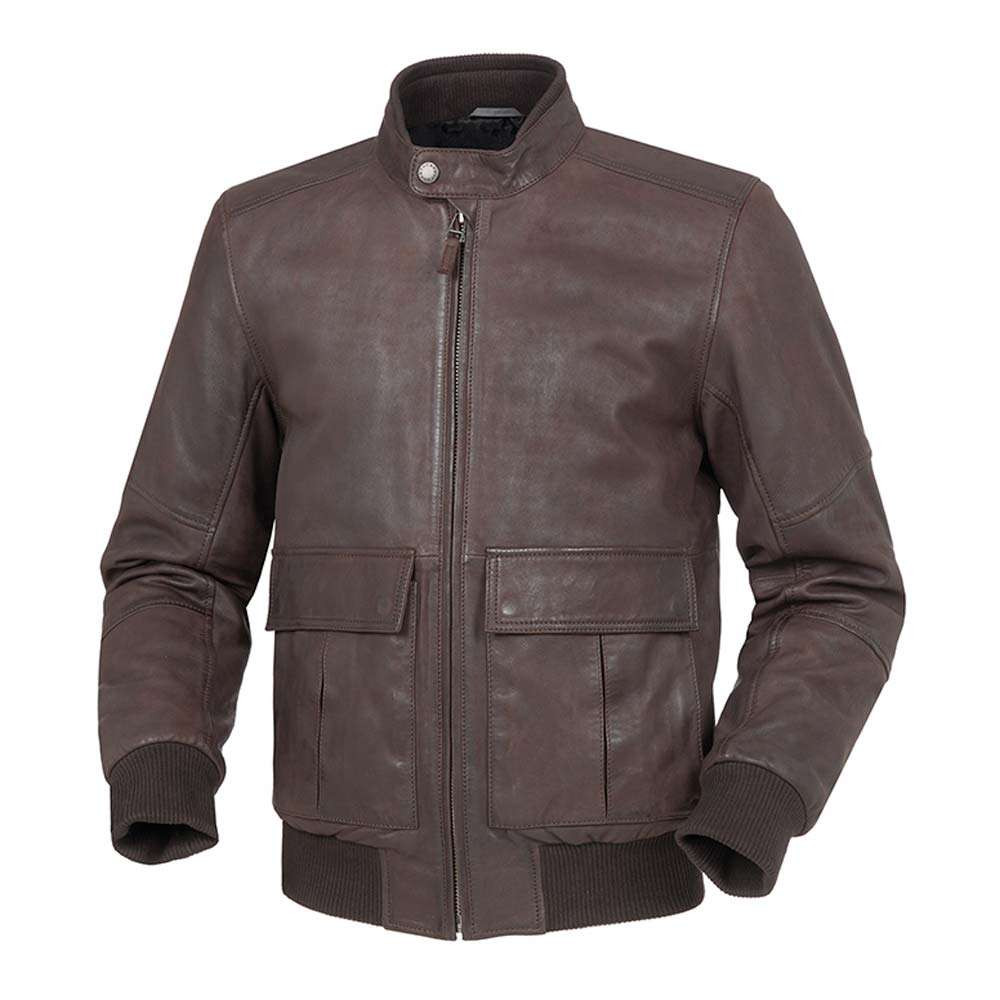 Tucano Urbano Iceman Leather Jacket - Brown