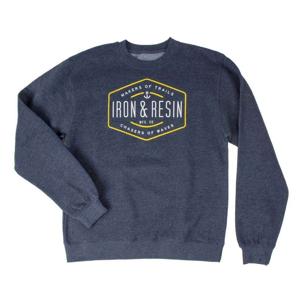 Iron And Resin Trails and Waves Fleece - Navy