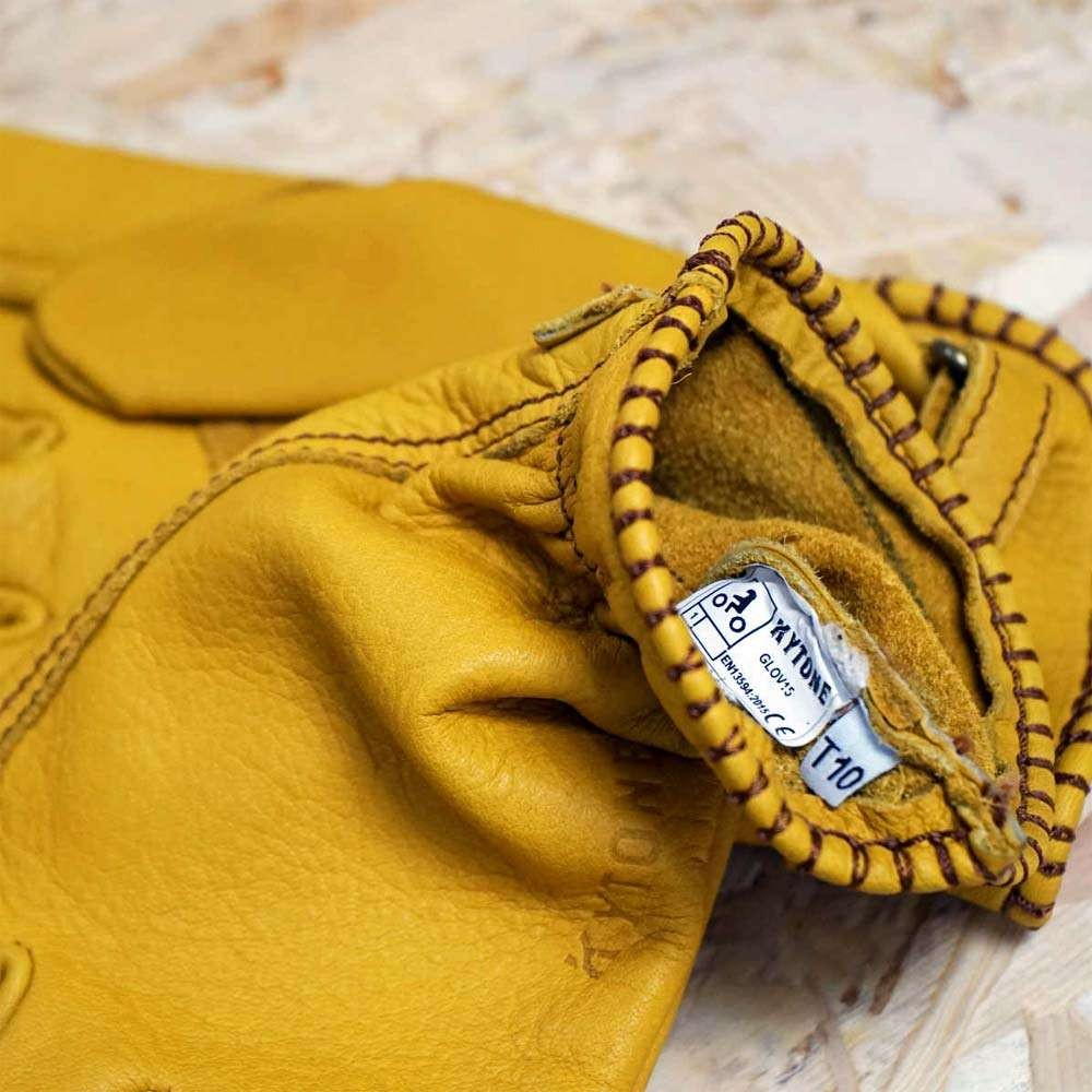 Kytone Leather CE Gloves - Gold