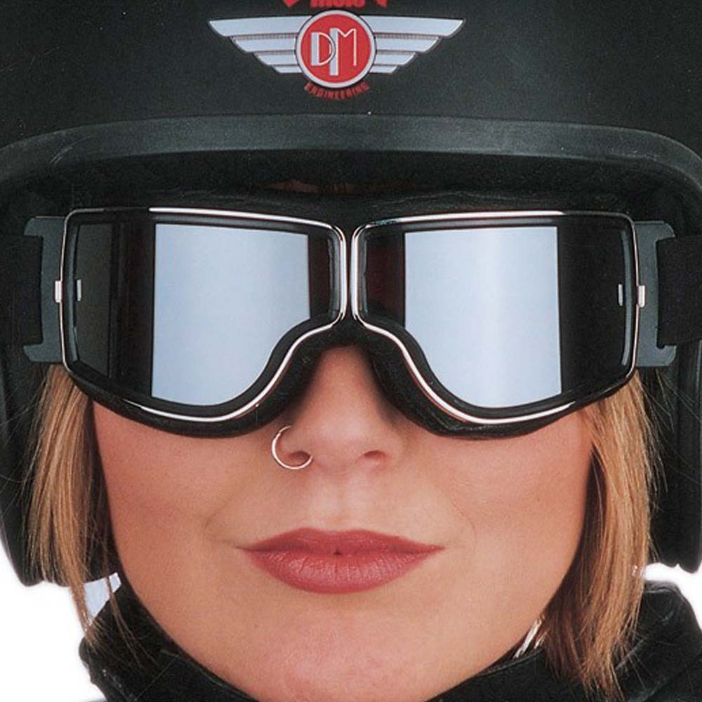Aviator Pilot Goggles By Leon Jeantet T1 - Black / Chrome