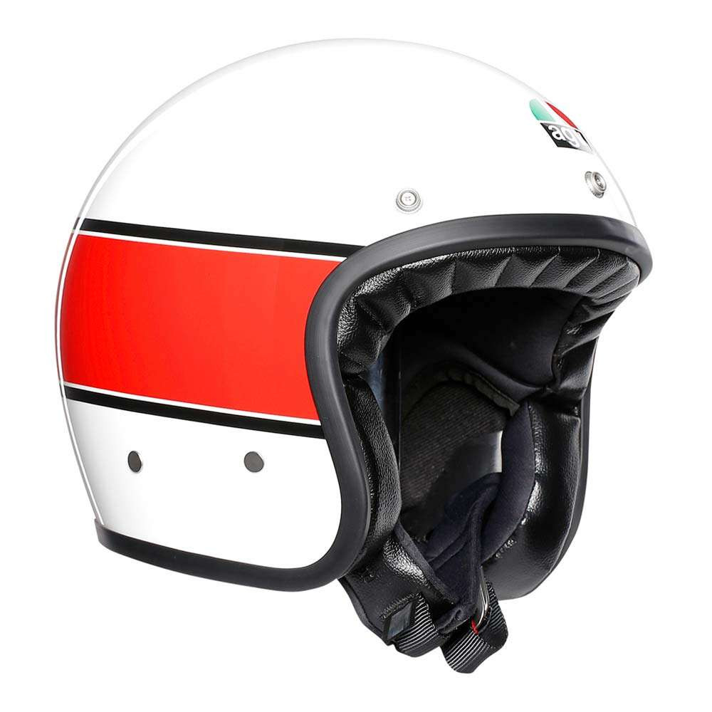 AGV X70 Mino 73 Helmet - White / Red