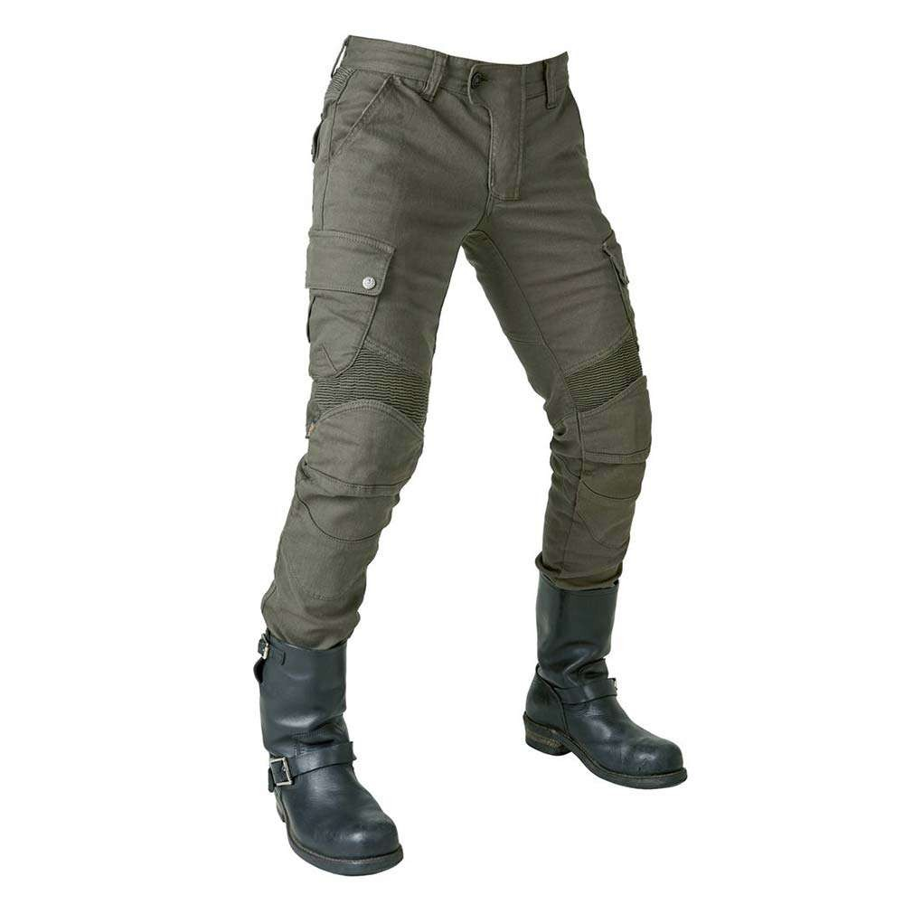 uglyBROS Motorpool-K Motorcycle Trousers - Solid Olive