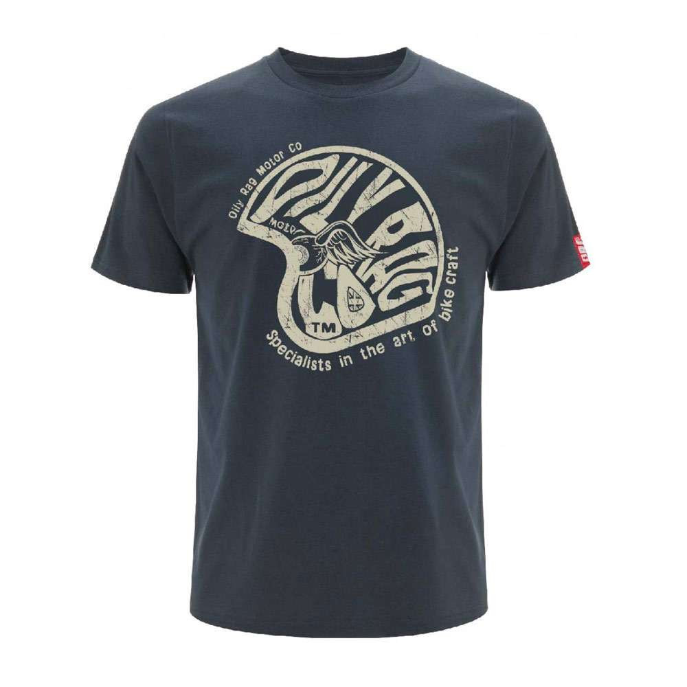 Oily Rag Clothing Black Label Bike Art Specialist T Shirt - Blue