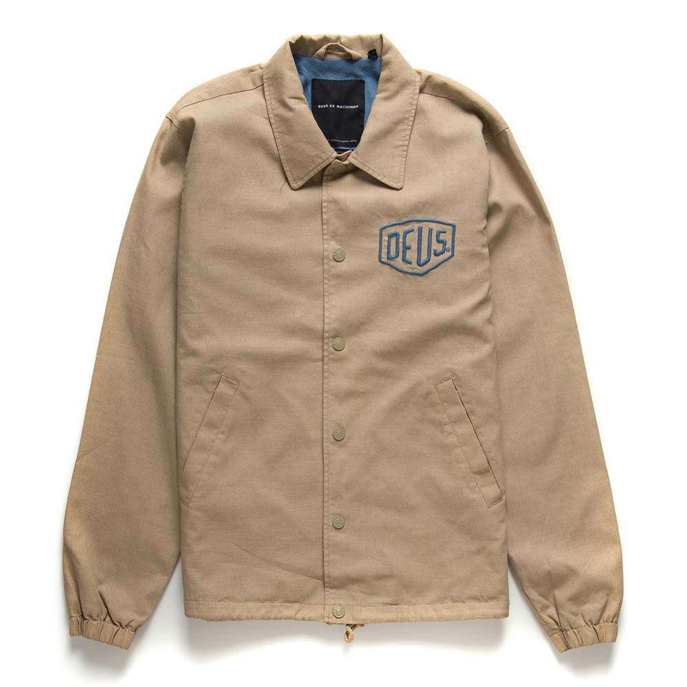 Deus Ex Machina Premium Milan Coach Jacket - Safari