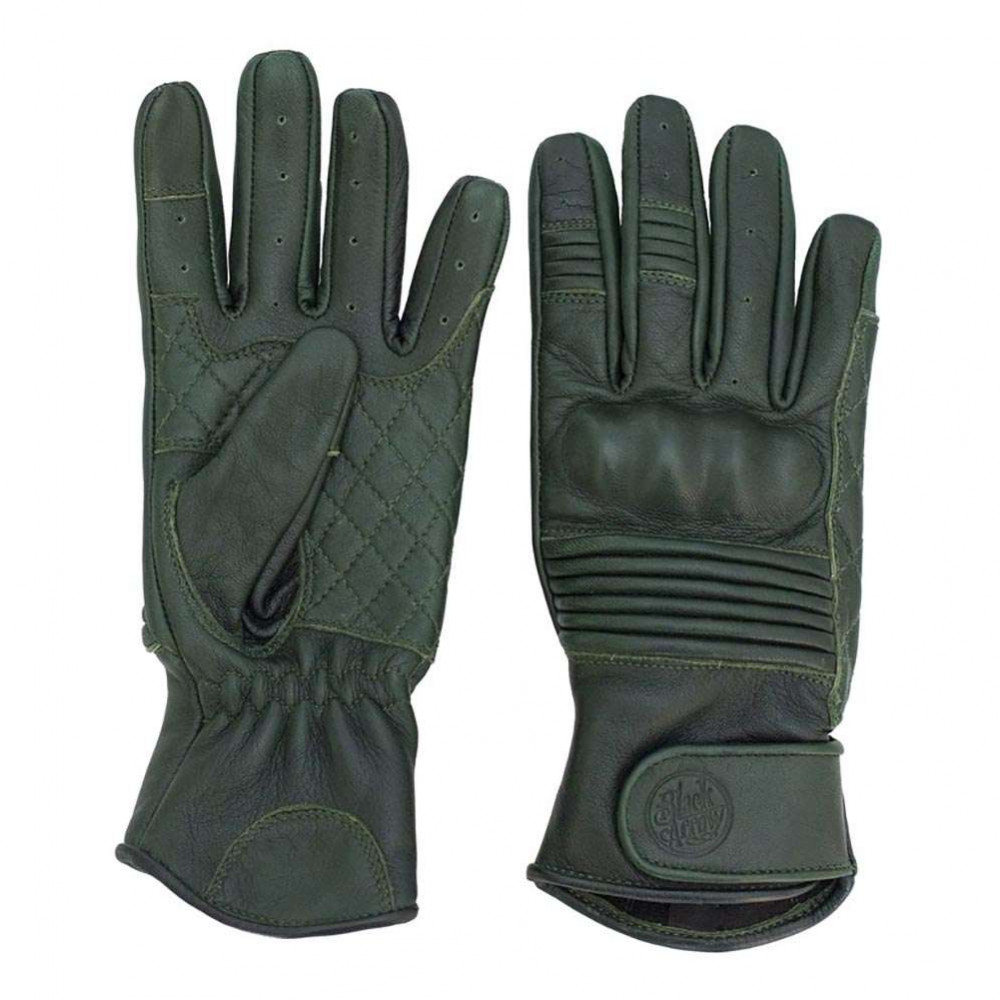 Black Arrow Queen Bee Leather Gloves - Forest