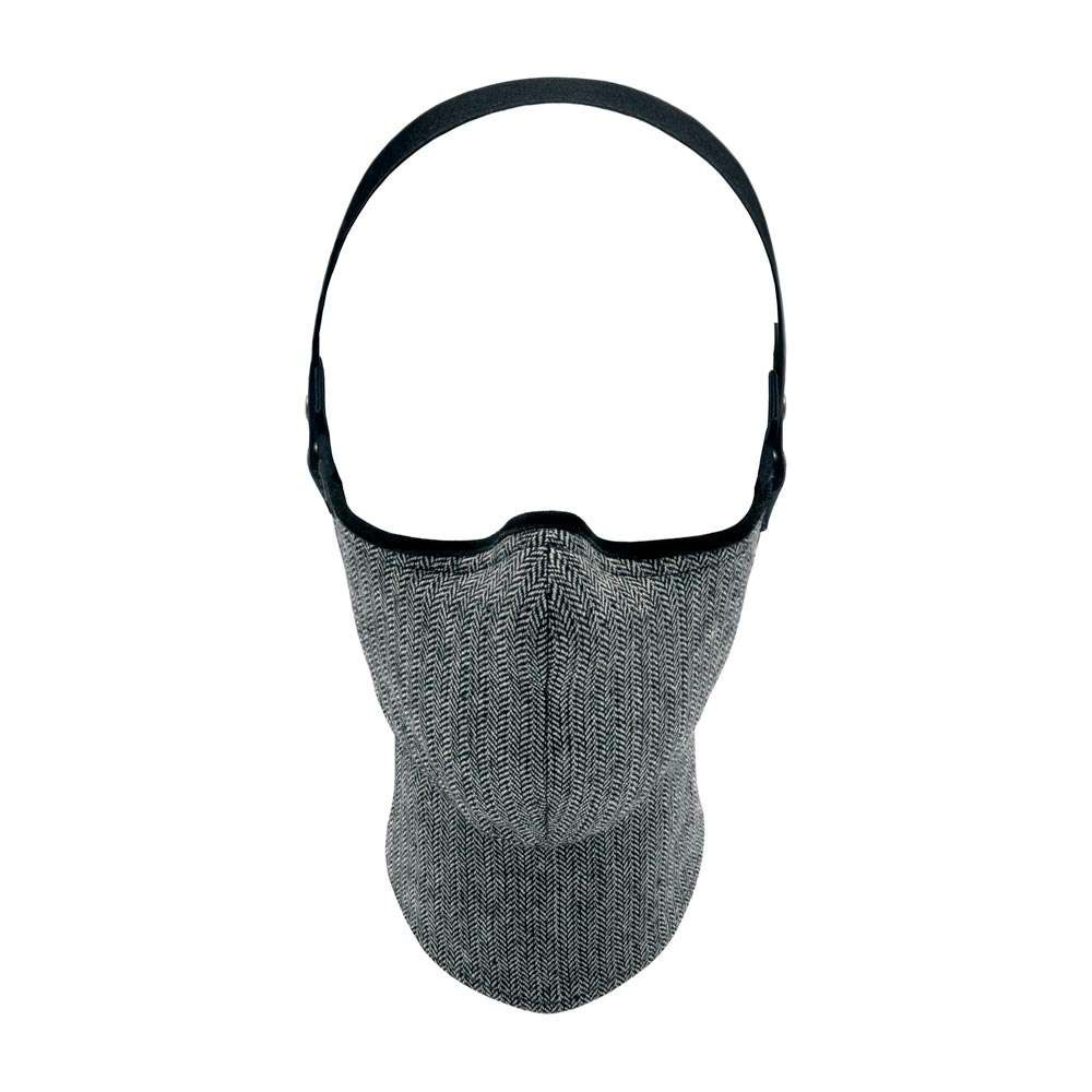Rare Bird MKII Tweed Face Mask - Silver Hue Herringbone
