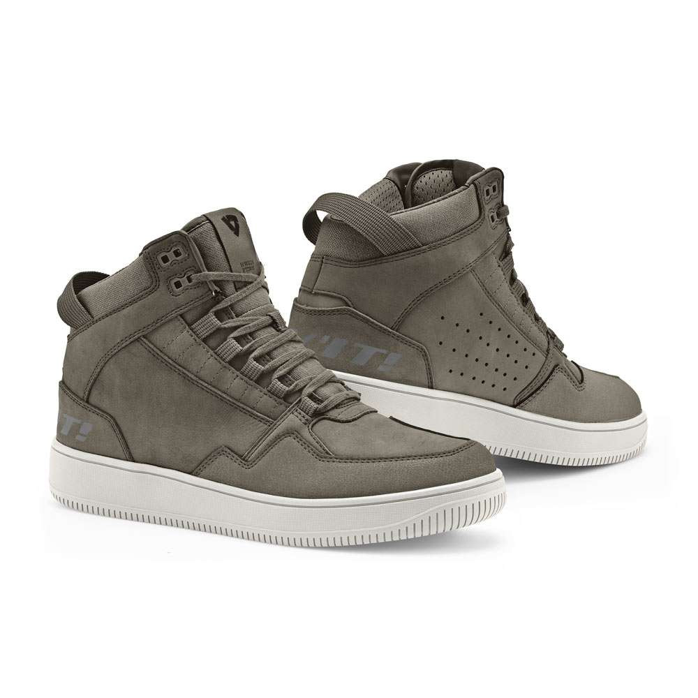 REV'IT Jefferson Riding Trainers / Boots - Olive Green / White